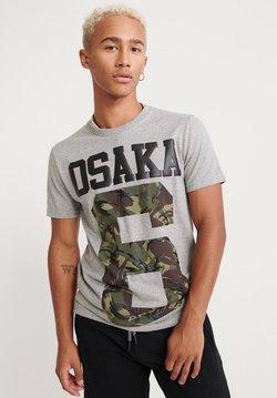 Superdry - OSAKA - T-Shirt print - grey