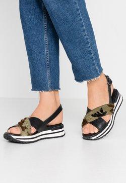 MAHONY - CLONE - Korkeakorkoiset sandaalit - black