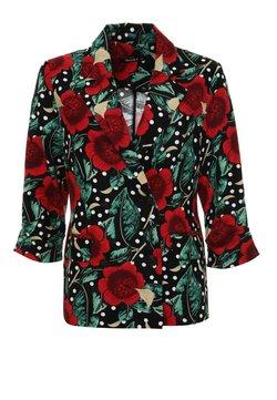 Madam-T - SILVANA - Blazer - schwarz, rot