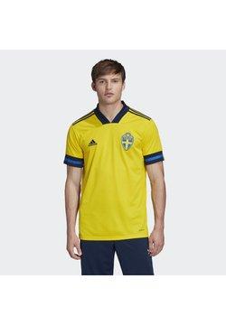 adidas Performance - SWEDEN SVFF HOME JERSEY - Landslagströjor - yellow/indigo