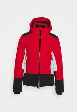 Kjus - WOMEN LAINA JACKET - Kurtka narciarska - fiery red/black