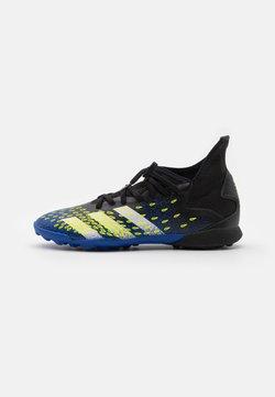 adidas Performance - PREDATOR FREAK .3 TF UNISEX - Botas de fútbol multitacos - core black/footwear white/solar yellow