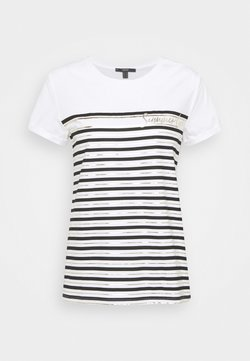 Esprit Collection - LOVE STRIPE  - T-Shirt print - off white