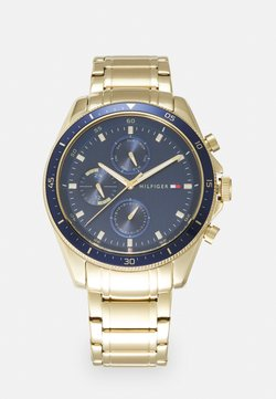 Tommy Hilfiger - PARKER - Zegarek - gold-coloured/blue