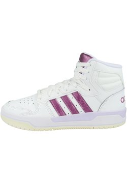 adidas Performance - ENTRAP MID - Indoorskor - footwear white-cherry metallic-purple tint