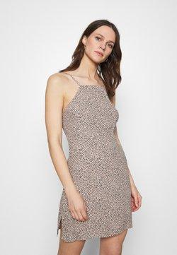 Abercrombie & Fitch - HALTER SLIP SHORT DRESS  - Cocktailkleid/festliches Kleid - brown