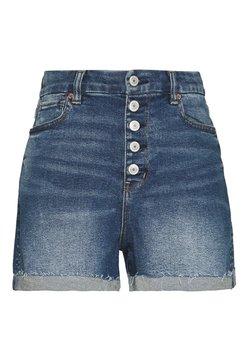 American Eagle - CURVY MOM  - Jeans Shorts - indigo nightfall