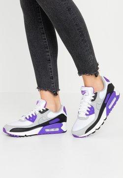 Nike Sportswear - AIR MAX 90 - Sneakers laag - white/particle grey/hyper grape/black/light smoke grey