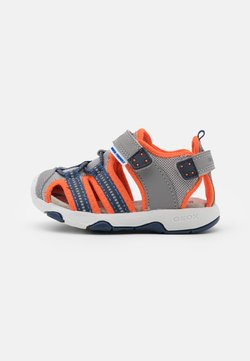 Geox - MULTY BOY - Riemensandalette - grey/fluo orange
