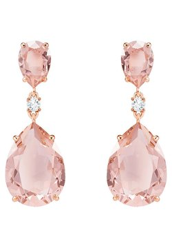 Swarovski - VINTAGE DROP PIERCED EARRINGS, PINK, ROSE-GOLD TONE PLATED - Orecchini - rosé