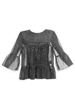 faina - Bluse - schwarz silber