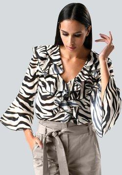 Alba Moda - Bluse - weiß schwarz beige