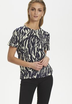Soaked in Luxury - SLSALLIE  - T-Shirt print - zebra strokes blue