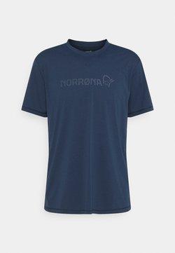 Norrøna - TECH  - Print T-shirt - indigo night