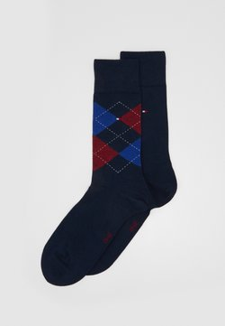 Tommy Hilfiger - MEN SOCK CHECK 2 PACK - Socken - dark blue/blue