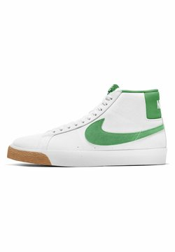 Nike SB - MID SKATEBOARDSCHUH - Sneakersy wysokie - white/white/coconut milk/lucky green