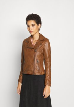 Oakwood - CLIPS - Veste en cuir - cognac