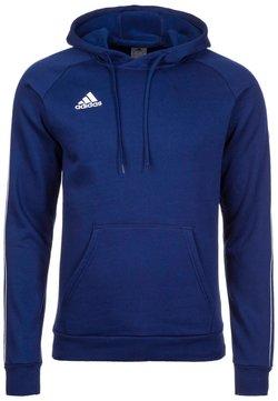 adidas Performance - CORE ELEVEN FOOTBALL HODDIE SWEAT - Kapuzenpullover - dark blue/white