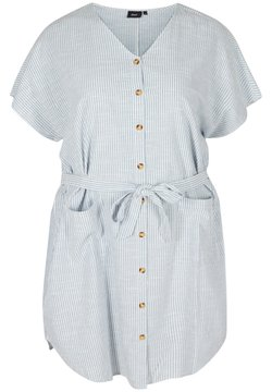 Zizzi - Vestido camisero - country blue stripe