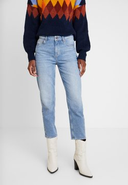 Marc O'Polo - TROUSER MOMS FIT HIGH WAIST CROPPED LENGTH - Jeans baggy - salty bright vintage wash