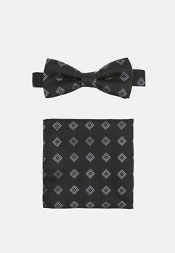 Only & Sons - ONSTROY PATTERN BOW TIE SET - Fliege - black