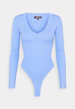 Missguided - V NECK - Strickpullover - pale blue