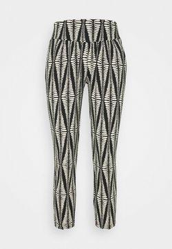LASCANA - GRAFIK - Pantaloni del pigiama - black/beige