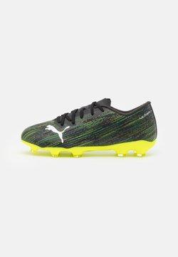 Puma - ULTRA 2.2 FG/AG JR UNISEX - Chaussures de foot à crampons - black/white/yellow alert