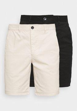 River Island - Shorts - stone/black