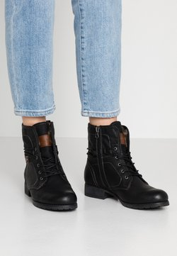 TOM TAILOR DENIM - Schnürstiefelette - black