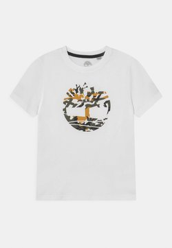 Timberland - SHORT SLEEVES TEE - Printtipaita - white