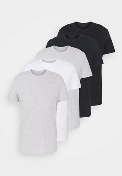 Pier One - 5 PACK - Camiseta básica - black/dark blue