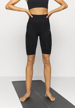 ONLY Play - ONPJASE CIRCULAR SHORTS - Medias - black