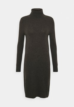 pure cashmere - TURTLENECK DRESS - Neulemekko - cocoa brown