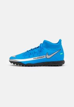 Nike Performance - PHANTOM GT CLUB DF TF  - Hiekkakengät - photo blue/metallic silver/rage green