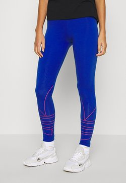 adidas Originals - LOGO TIGHTS - Legginsy - team royal blue