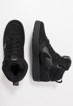 Nike Sportswear - COURT BOROUGH MID 2 BOOT WINTERIZED - Sneaker high - black/white