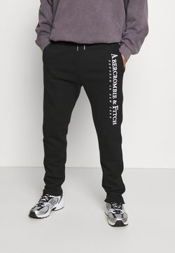 Abercrombie & Fitch - TECH LOGO CLASSIC - Jogginghose - black