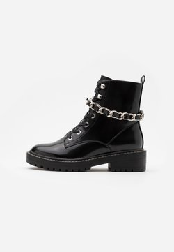 ONLY SHOES - ONLBOLD CHAIN LACE UP BOOT  - Cowboy-/Bikerstiefelette - black