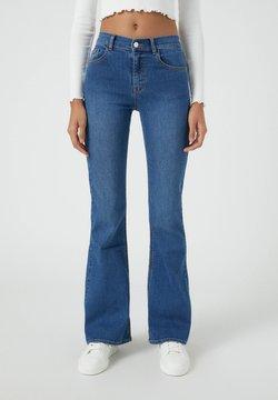 PULL&BEAR - Jeans bootcut - mottled blue