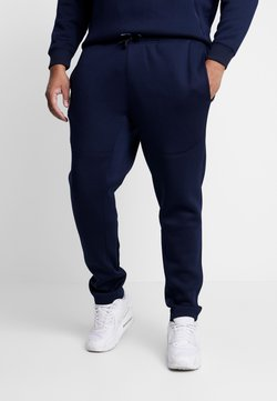 Urban Classics - CUT AND SEW PLUS SIZE - Jogginghose - midnightnavy
