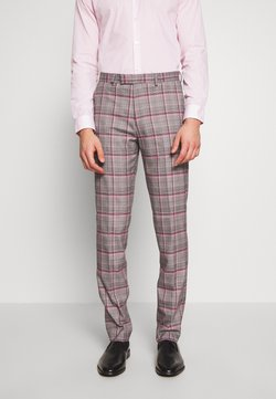 1904 - RAILEIGH CHECK TROUSER SLIM - Suit trousers - mid grey