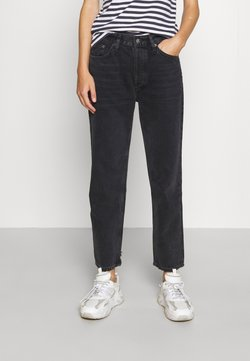 Agolde - LANA CROP - Straight leg jeans - rhyme washed black