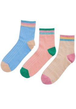 Nümph - 3 PACK  - Socken - nude green light pink