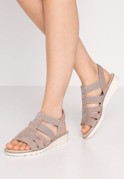 Jana - Sandalen met sleehak - light grey