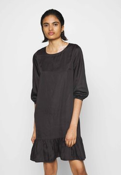 NU-IN - CREW NECK TIERED MINI DRESS - Freizeitkleid - dark brown