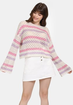 myMo - Strickpullover - beige/pink