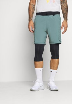 Under Armour - RUN ANYWHERE 2-IN-1 LONG - Pantalón corto de deporte - lichen blue
