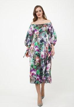 Madam-T - ANTONELLA - Freizeitkleid - grau/lila