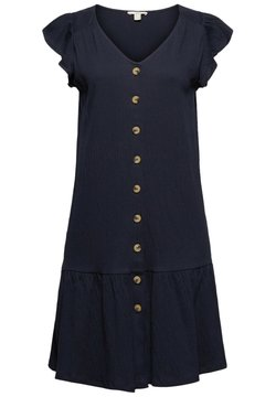 edc by Esprit - CRINKLE DRESS - Vestido camisero - navy